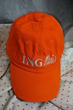 ING Bank Marathon Logo Baseball Cap Hat Adjustabl Unisex Authentic Embroidered