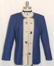 YESSICA / COTTON & LINEN ~ BLUE German Women SUMMER Western Dress JACKET 40 12 M