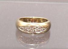 Massiver Ring mit Brillanten 0,1 ct. 14 K/585er Gelbgold Gr. 54 TOP