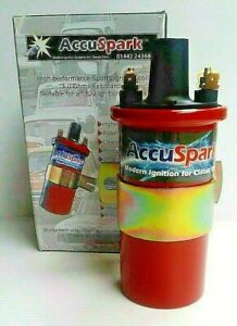 AccuSpark 3 Ohm 12V Sports Ignition Coil for Non-Resistor/Non-Ballast Ignitions