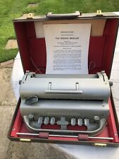 Vintage Perkins Brailler Braille Typewriter Writer Machine in Fitted Carry Case