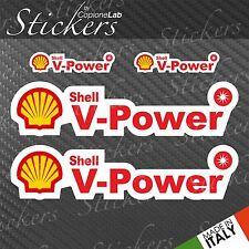 Set 4 Klebstoffe Shell V Power Style Sponsoren Daten Auto Moto Red