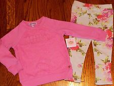 JUICY COUTURE BABY/KIDS GIRLS BRAND NEW 2Pc PINK DRESS LEGGING SET Sz 18-24M,NWT