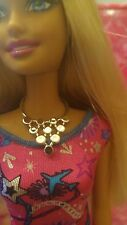 Barbie doll  Silver pyramid shaped  Necklace