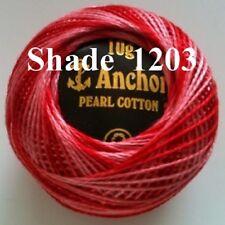 10 ANCHOR Variegated Pearl Cotton Crochet thread Balls in each Colour. Choose