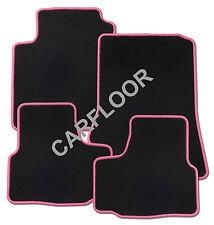 Passend für Mitsubishi Grandis ab 03.04 Fußmatten Velours schwarz mit Rand pink