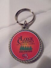 The Lodge Casino Black Hawk Colorado Poker Chip Pewter Keychain Key Ring #26425