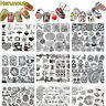 Nail Art Stamping Plates Stainless Steel Stamp Template Nails Tools 48 patterns