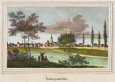 KÖNIGSWARTHA - Gesamtansicht - Kirchen-Galerie - Lithografie 1840