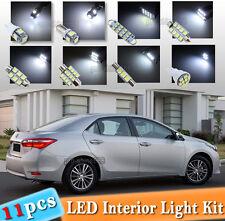 11-pc White LED Interior Light Bulbs Package Kit Fit 2000-2016 Toyota Corolla