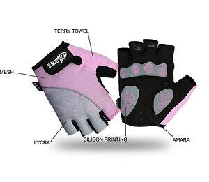 Ladies Cycling Gloves MTB Bike Half Finger Bicycle Palm Gel Silicone Fingerless