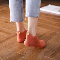 4 Pairs Women Lovely Heart Pattern Socks Ankle Low Cut Cotton Socks Casual Lot