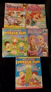 New Lot Of Kids Activity Books: Disney Frozen, Princess, Junior & 2 Pre K to 1st