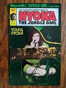 💎 Nyoka the Jungle Girl #4 (AC 1988) Copper Age Indie Jungle Comic 💎