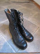 BLACK COMBAT BOOTS Size Men's 9.5 NARROW MARINES USA ARMY GENESCO May 1976
