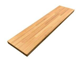 "Forever Joint Red Oak Butcher Block Wood Shelf - 1.5"" x 12"" x Custom Sizes"