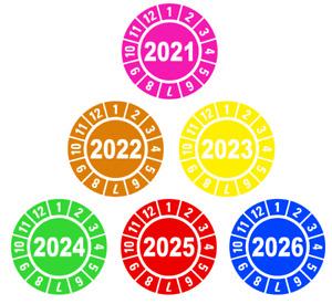 UVV Prüfplakette Jahresplaketten Aufkleber D27 AN 2021 2022 2023 2024 2025 2026