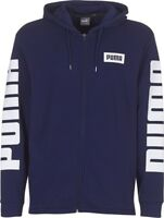 Puma Rebel Full Zip Hoody TR Mens Hooded Sweat Jumper Navy Blue 850074 06 P