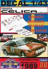 DECAL 1/43 TOYOTA CELICA GT-4 K.ERIKSSON SWEDISH R. 1989 (01)