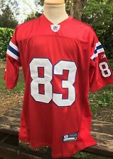 NE PATRIOTS WES WELKER THROWBACK RED JERSEY  MEN'S 50 USED LOOK GO PATS!!!
