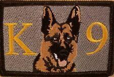 K9 DOG  Patch W/ VELCRO® Brand Fastener Tactical Military Gray #1