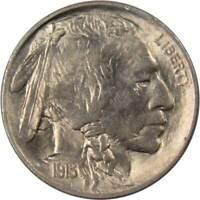 1913 Type 1 5c Indian Head Buffalo Nickel US Coin Borderline Uncirculated