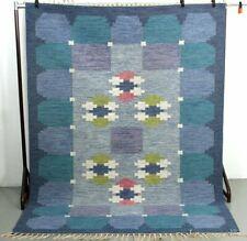 Swedish Handwoven Flat-Weave Rug signed Ingegerd Silow