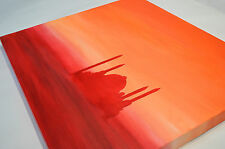 Arabic Art abstract masjid AQSA sunset canvas oil hand painting–purchased £7,500