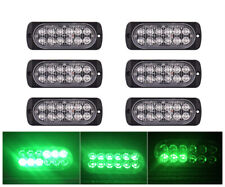 6x Green 12LED Car Truck Emergency Beacon Warning Hazard Flash Strobe Light BARS