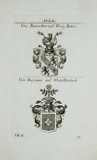 1824 Wappen Adelige von Rauscher Weeg Ritter Raymair Oberellenbach Kupfer Tyroff