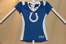 Indianapolis Colts NFL Fan Fashion JERSEY/Shirt MAJESTIC  Womens Small  NWT  $55