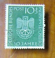 EBS Germany 1953 German Museum Deutsches Museum Munich Michel 163 Used cv $52 (e