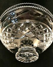 Vintage Waterford Centerpiece Bowl Heavy Clear Lead Crystal 11 inch Diameter