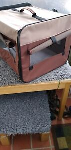 Folding Canvas Pet  Carrier/Crate with carrying bag
