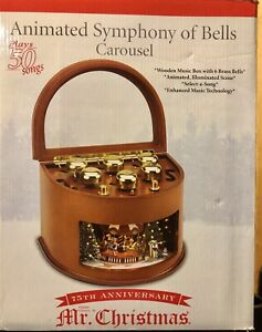 Mr Christmas Music Box Animated Symphony of Bells 50 Songs 75th anniversary