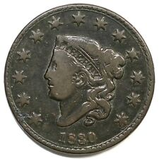 1830 N-3 R-3 Large Letters Matron or Coronet Head Large Cent Coin 1c