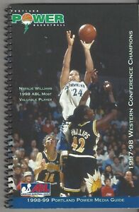1998-99 ABL PORTLAND POWER MEDIA GUIDE 80 PAGES MILTON WILLIAMS POWELL + RARE ++