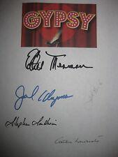 Gypsy 1959 Broadway Musical Signed Script X5 Ethel Merman Jack Klugman Church RP