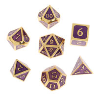 Dungeons and Dragons Metal Dice Set,DND die Solid Dice set, 7pcs