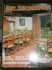 Art et Décoration N° 242 1983 Maquettes de bateaux Salle de bains rétro Vintage