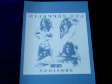 LED ZEPPLIN~ BBC SESSIONS~ VINYL WINDOW DECAL~ MINT~ 7 /1/2 X10 ~~COLLECTABLES