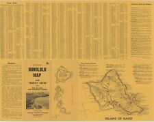 1954 Detailed Honolulu Map & Tourist Guide...