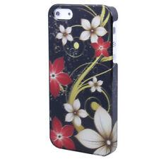 HardCase für Apple  iPhone 5 5S SE  Flower weiß schwarz Hülle Case Schutzcase