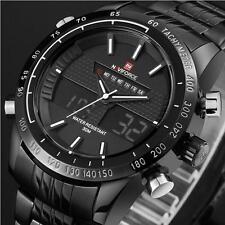 NAVIFORCE Mens Military Watches Fashion Analog Digital LED Watch Men Wristwatch