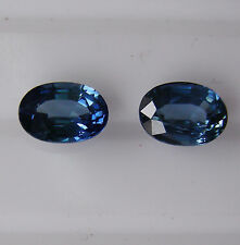 NATURAL BLUE SAPPHIRES 2.32ct!! MATCHING PAIR EXPERTLY FACETED IN GERMANY +CERT