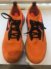Nike Mens Epic React Flyknit Running Shoes Flash Orange Black Size 12 AQ0067-800