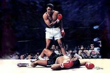 Ali Liston : giclee print on canvas poster painting no autograph N-078