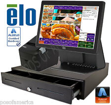 ALDELO PRO ELO BURGER GRILL RESTAURANT ALL-IN-ONE COMPLETE POS SYSTEM NEW