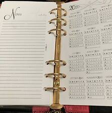 80 Lined Notes 2020/21 Calendar Year View Personal Size For 6 Ring Agendas