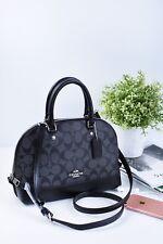 NWT Coach F58295 Signature mini Sierra Satchel Shoulder Bag Handbag Purse Black